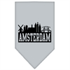 Mirage Pet Products Amsterdam Skyline Screen Print Bandana Grey Large