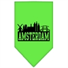 Mirage Pet Products Amsterdam Skyline Screen Print Bandana Lime Green Large