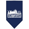 Mirage Pet Products Amsterdam Skyline Screen Print Bandana Navy Blue large