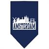 Mirage Pet Products Amsterdam Skyline Screen Print Bandana Navy Blue large