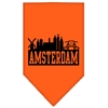 Mirage Pet Products Amsterdam Skyline Screen Print Bandana Orange Small