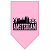 Mirage Pet Products Amsterdam Skyline Screen Print Bandana Light Pink Large