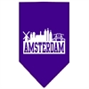 Mirage Pet Products Amsterdam Skyline Screen Print Bandana Purple Small