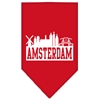 Mirage Pet Products Amsterdam Skyline Screen Print Bandana Red Small