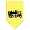 Mirage Pet Products Amsterdam Skyline Screen Print Bandana Yellow Large