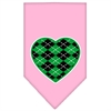 Mirage Pet Products Argyle Heart Green Screen Print Bandana Light Pink Large