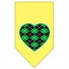 Mirage Pet Products Argyle Heart Green Screen Print Bandana Yellow Small