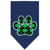 Mirage Pet Products Argyle Paw Green Screen Print Bandana Navy Blue Small