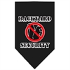 Mirage Pet Products Backyard Security Screen Print Bandana Black Large