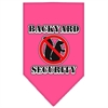 Mirage Pet Products Backyard Security Screen Print Bandana Bright Pink Large