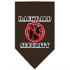 Mirage Pet Products Backyard Security Screen Print Bandana Cocoa Large