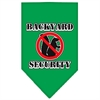 Mirage Pet Products Backyard Security Screen Print Bandana Emerald Green Small