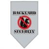 Mirage Pet Products Backyard Security Screen Print Bandana Grey Large
