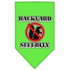 Mirage Pet Products Backyard Security Screen Print Bandana Lime Green Large