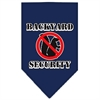 Mirage Pet Products Backyard Security Screen Print Bandana Navy Blue large