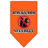 Mirage Pet Products Backyard Security Screen Print Bandana Orange Large