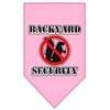 Mirage Pet Products Backyard Security Screen Print Bandana Light Pink Small