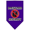 Mirage Pet Products Backyard Security Screen Print Bandana Purple Small