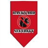 Mirage Pet Products Backyard Security Screen Print Bandana Red Small