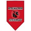 Mirage Pet Products Backyard Security Screen Print Bandana Red Small