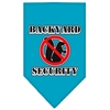 Mirage Pet Products Backyard Security Screen Print Bandana Turquoise Large