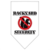 Mirage Pet Products Backyard Security Screen Print Bandana White Large
