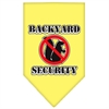 Mirage Pet Products Backyard Security Screen Print Bandana Yellow Large