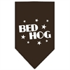 Mirage Pet Products Bed Hog Screen Print Bandana Cocoa Small