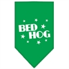 Mirage Pet Products Bed Hog Screen Print Bandana Emerald Green Large