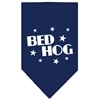 Mirage Pet Products Bed Hog Screen Print Bandana Navy Blue Small