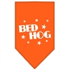Mirage Pet Products Bed Hog Screen Print Bandana Orange Small