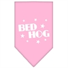 Mirage Pet Products Bed Hog Screen Print Bandana Light Pink Large