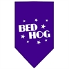Mirage Pet Products Bed Hog Screen Print Bandana Purple Large