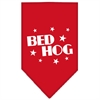 Mirage Pet Products Bed Hog Screen Print Bandana Red Large
