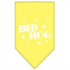 Mirage Pet Products Bed Hog Screen Print Bandana Yellow Small
