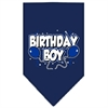 Mirage Pet Products Birthday Boy Screen Print Bandana Navy Blue Small