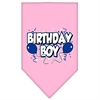 Mirage Pet Products Birthday Boy Screen Print Bandana Light Pink Large