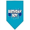 Mirage Pet Products Birthday Boy Screen Print Bandana Turquoise Large