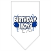 Mirage Pet Products Birthday Boy Screen Print Bandana White Large