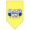 Mirage Pet Products Birthday Boy Screen Print Bandana Yellow Small