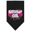 Mirage Pet Products Birthday girl Screen Print Bandana Black Large