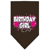 Mirage Pet Products Birthday Girl Screen Print Bandana Cocoa Small