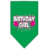 Mirage Pet Products Birthday girl Screen Print Bandana Emerald Green Small