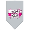 Mirage Pet Products Birthday girl Screen Print Bandana Grey Small