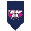 Mirage Pet Products Birthday girl Screen Print Bandana Navy Blue large