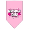 Mirage Pet Products Birthday girl Screen Print Bandana Light Pink Large