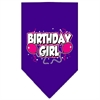 Mirage Pet Products Birthday Girl Screen Print Bandana Purple Large