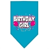 Mirage Pet Products Birthday girl Screen Print Bandana Turquoise Large