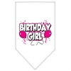 Mirage Pet Products Birthday Girl Screen Print Bandana White Small