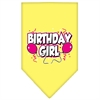 Mirage Pet Products Birthday girl Screen Print Bandana Yellow Small